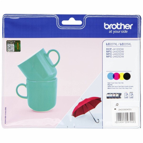 Brother LC-227 / LC-225 XL Value Pack BK/C/M/Y
