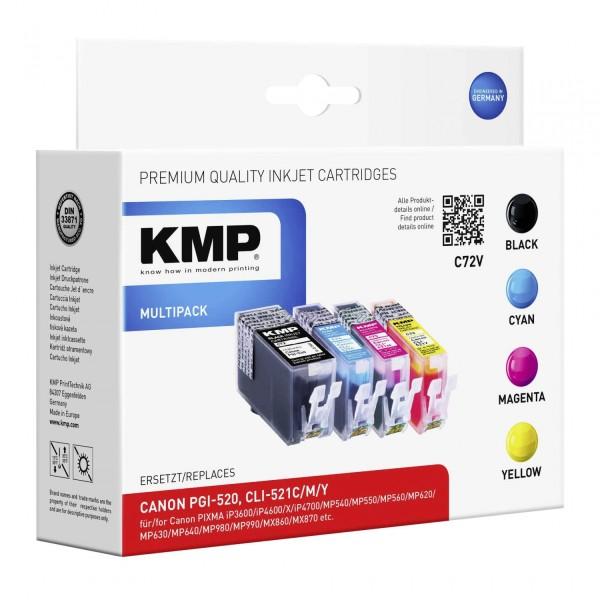 KMP C72V Vorteilspack BK/C/M/Y komp. mit PGI-520 / CLI-521