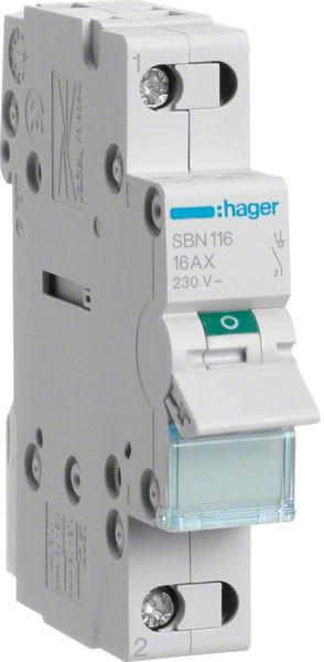 Hager SBN116 Ausschalter 1P 16A