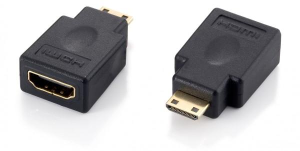 Equip Adapter Minihdmi (Typ C) > HDMI (Typ A) S/B Schwarz Polybeutel
