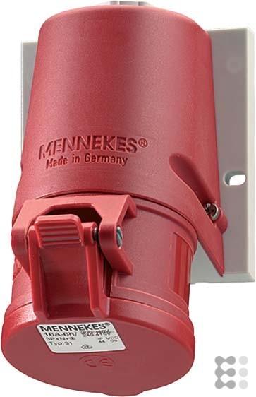 Mennekes Wanddose TwinCONTACT 31 16A,5p,6h,400V,IP44 TwinContact CEE-Steckdose 4015394202462