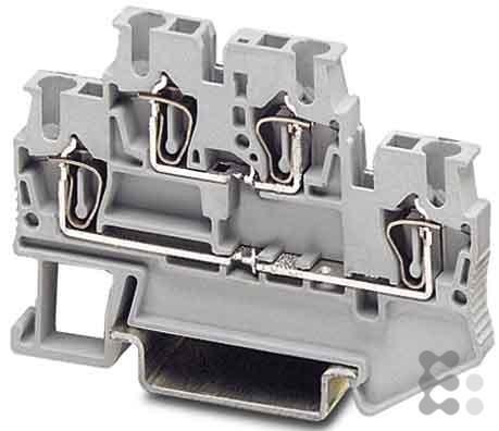Phoenix 3031270 PHOE Doppelstockklemme STTB 2,5, Grau