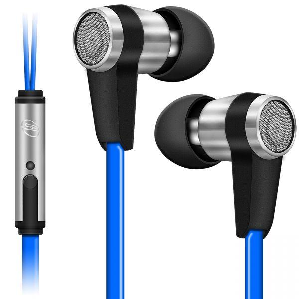 SOUNDSTERS S20-M - Premium In-Ear Headset Kopfhörer für Mobilgeräte - Blau