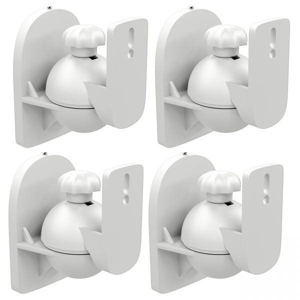 deleyCON 4x Boxen Halter Wandhalter Lautsprecher Halterung Boxen Wandhalterung