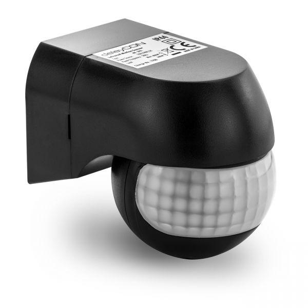 deleyCON 1x Infrarot Bewegungsmelder Innen Außen bis 12m 180° Dreh-/Neigbar IP44
