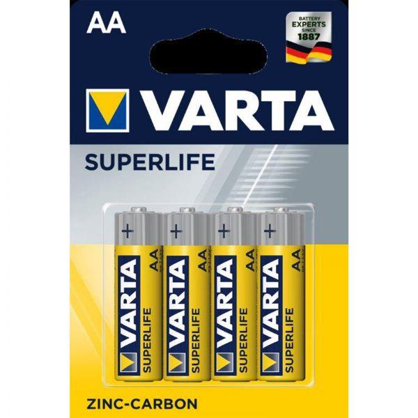 4x VARTA SUPERLIFE Batterien AA / R6 Mignon 1,5V Batterie Fernbedienung Uhr