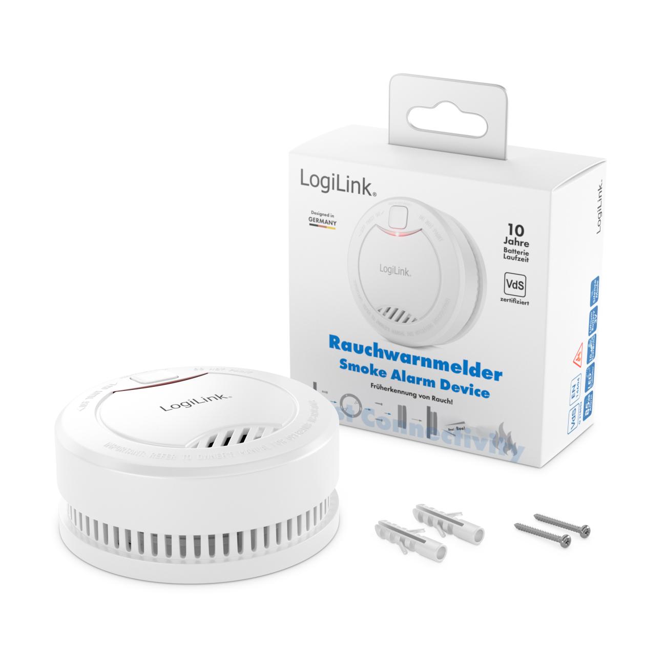 8x logilink rauchmelder vds 10 jahre batterie 85db. Black Bedroom Furniture Sets. Home Design Ideas