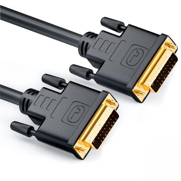 deleyCON 0,5m DVI zu DVI Kabel vergoldet DUAL LINK 0,5 m DVI D