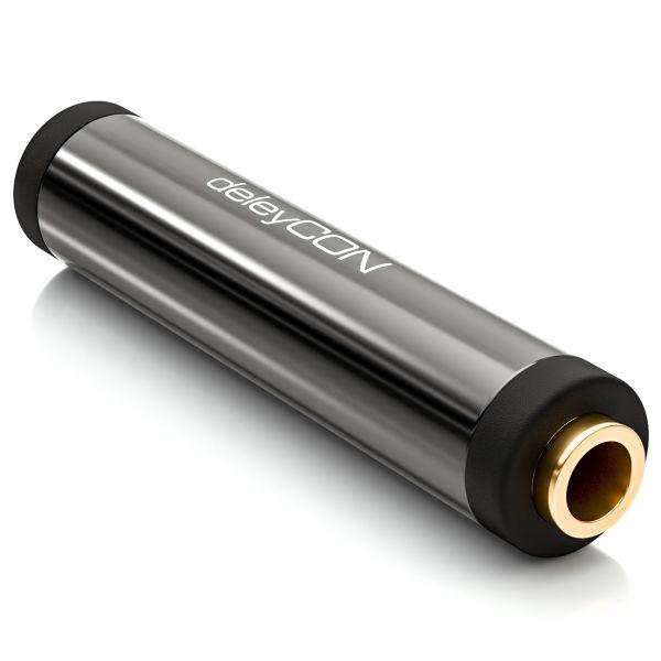 deleyCON HQ Stereo Audio Klinken Kupplung/Adapter - 2x 3,5mm Klinken Buchse