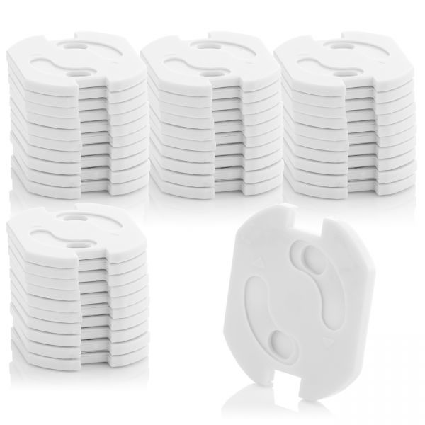 deleyCON 40x Kindersicherung für Steckdosen & Steckdosenleisten Drehmechanik