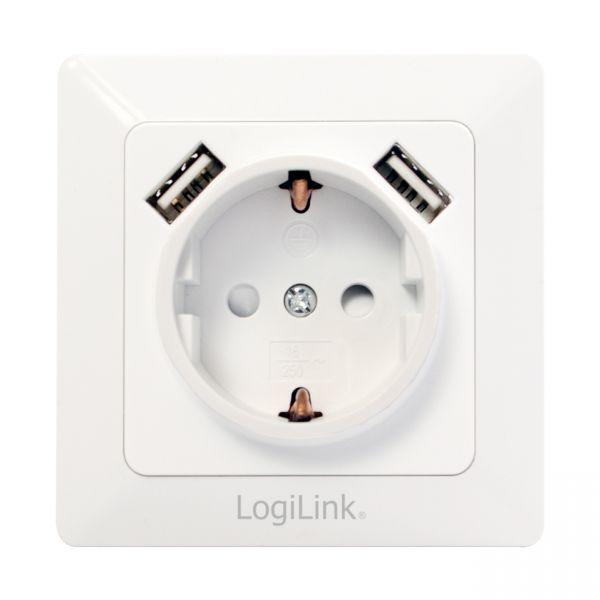 Steckdose mit USB Anschluss Unterputz 2x USB Smartphone Tablet Strom Ladegerät