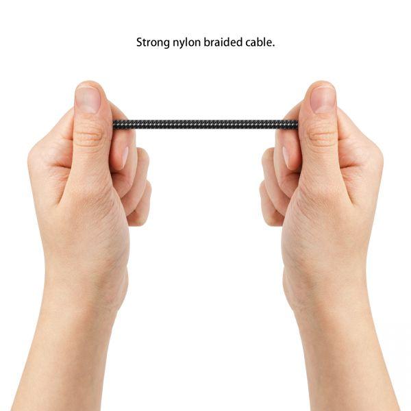 deleyCON 0,5m UHD HDMI Kabel mit Metallstecker & Nylonmantel 2160p 4K ULTRA HD