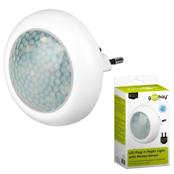 LED Nachtlicht mit Bewegungsmelder für Steckdose 8 LEDs Nachtlicht Nachtlampe
