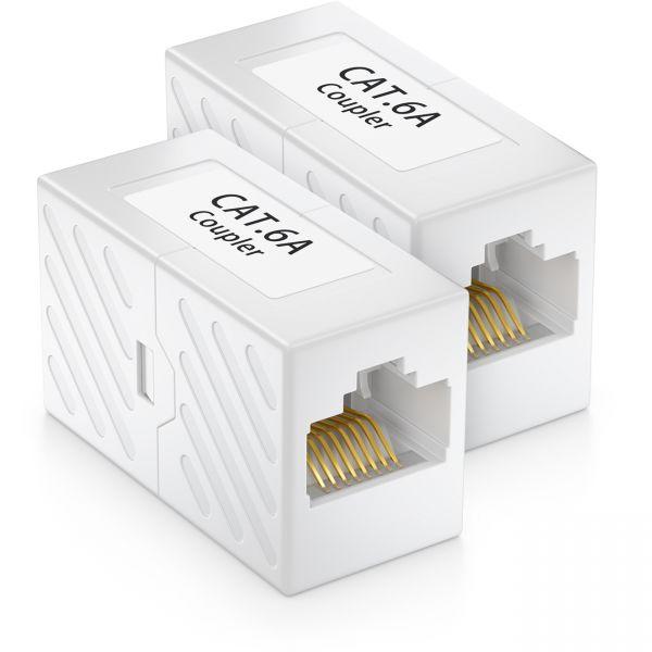 2x CAT 6a Netzwerk Kupplung Patchkabel Netzwerkkabel CAT6 RJ45 Verbinder DSL LAN