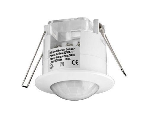 Unterputz Infrarot Bewegungsmelder- 360° / 6m Überwachung- IP20- weiss