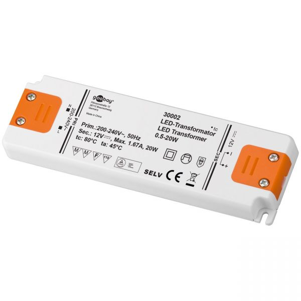 LED Trafo LED Transformator 12V DC SMD Treiber Driver 0,5W - 20W G4 MR16 Lampen