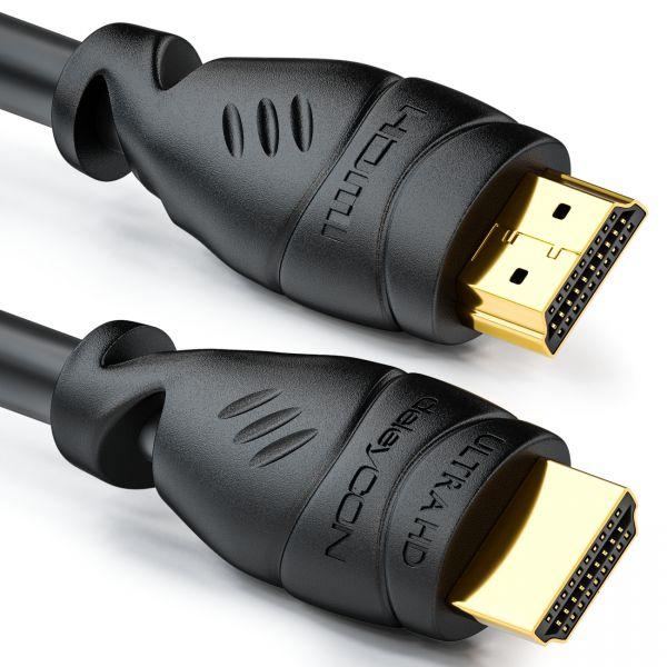 deleyCON 5m HDMI Kabel UHD 4K HDR 3D 1080p 2160p ARC TV LED Beamer OLED PC Schwa