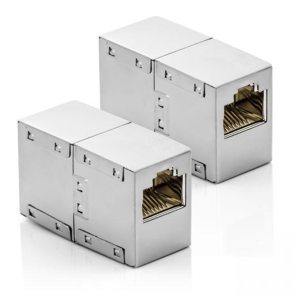 deleyCON 2x RJ45 Netzwerkkabel Kupplung Patchkabel Verbinder Modular Kupplung