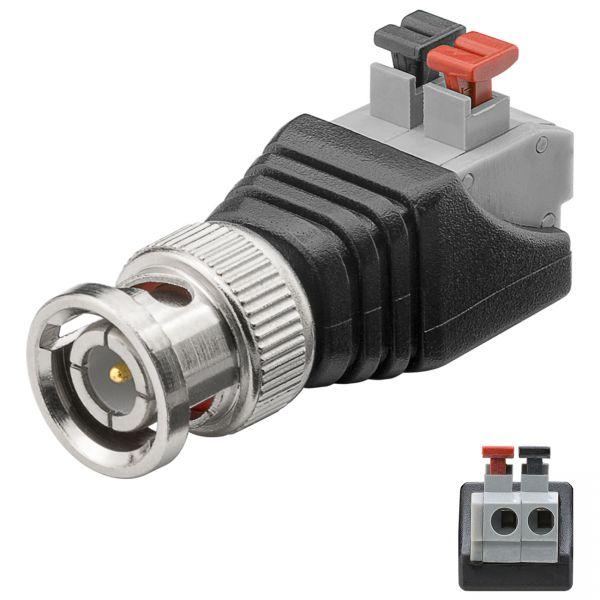 BNC Adapter Stecker auf 2-Pin Terminal Block Druck Klemmen BNC Kabel Adapter
