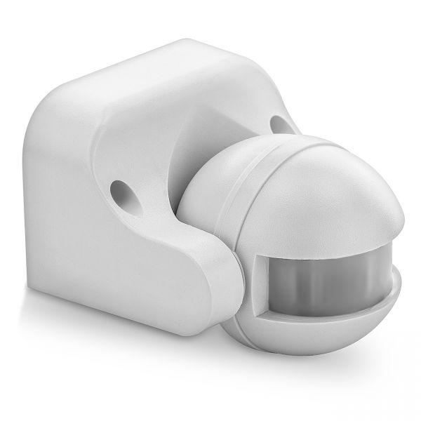 deleyCON Infrarot Bewegungsmelder - Innen/Außen IP44 - 180° bis 12m - Weiß