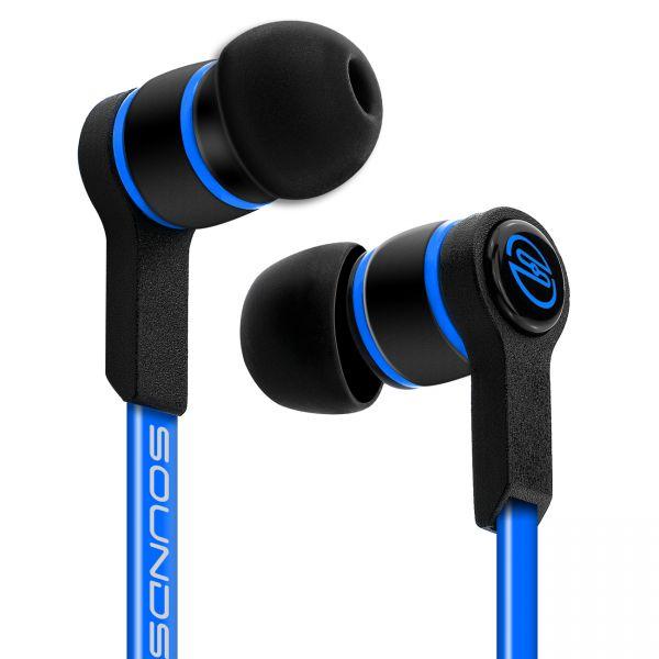 SOUNDSTERS S18 - Extrem leichte In-Ear Kopfhörer für alle Mobilgeräte - Blau