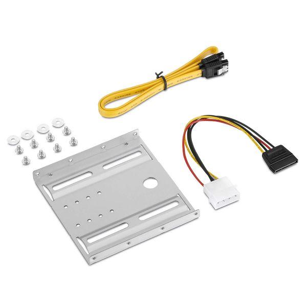 """HDD SSD Einbaurahmen 3,5"""" für 2,5"""" Festplatten PC Computer Halterung Adapter"""