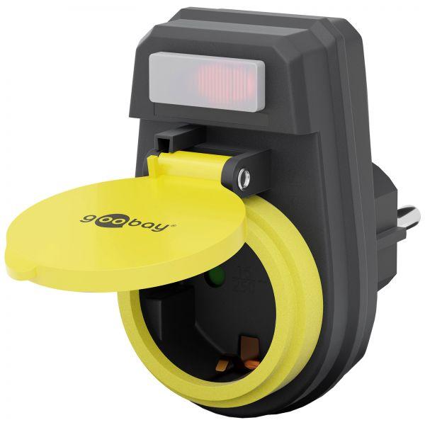 Outdoor Steckdose Spritzwassergeschützt Außensteckdose Strom Adapter Außen
