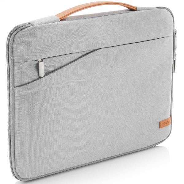"""deleyCON Laptop Tasche bis 17"""" Zoll (43,2cm) Notebook Netbook MAC Hellgrau"""