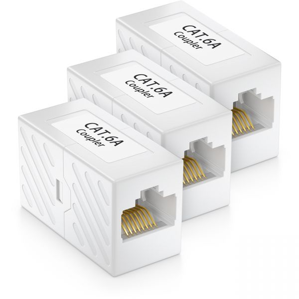 3x CAT 6a Netzwerk Kupplung Patchkabel Netzwerkkabel CAT6 RJ45 Verbinder DSL LAN
