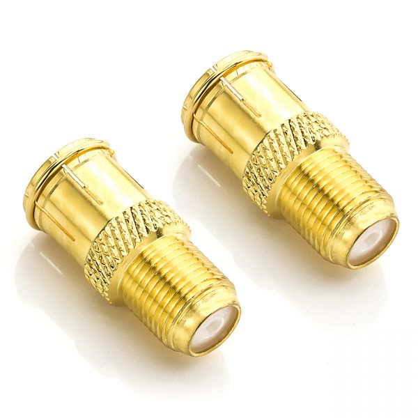 deleyCON 2 F-Quick Stecker Schnellverbinder F-Buchse zu Stecker kein schrauben