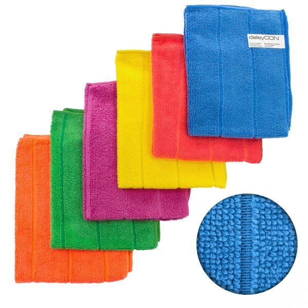 deleyCON 24x Universal Mikrofaser Reinigungstücher - extrem saugstark und weich