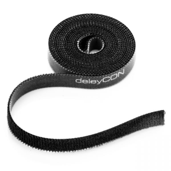 deleyCON 2m Klettband Rolle 10mm Breit Kabelbinder Klettverschluss Kabelklett