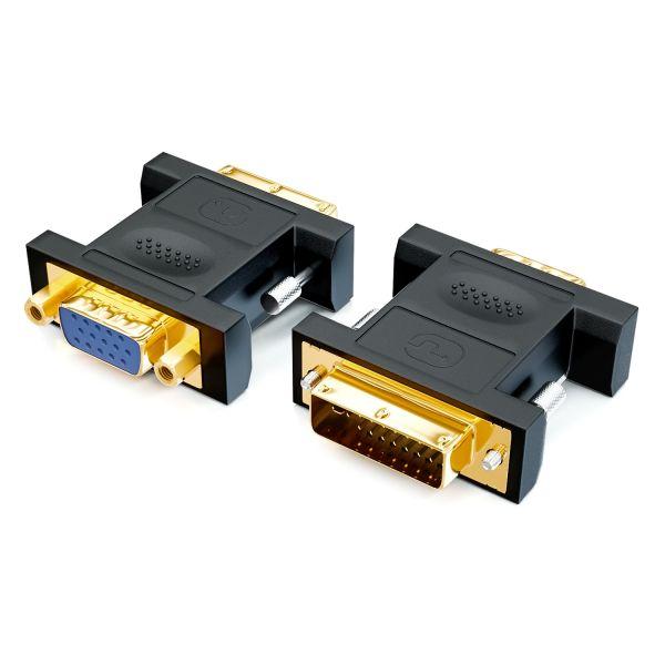 LogiLink Computer Monitor Adapter VGA auf DVI Adapter PC TFT Beamer Monitor