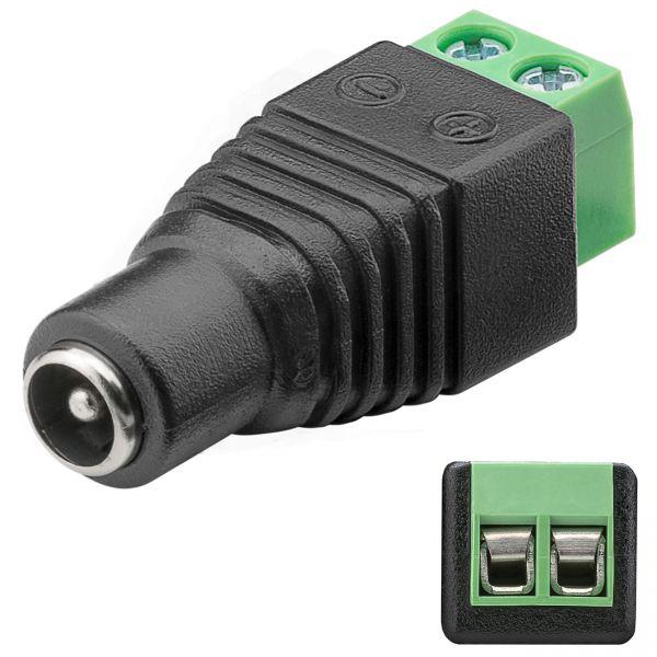 DC Buchse 5,50 x 2,10mm auf 2-Pin Terminal Block Schraub Klemmen Strom Adapter