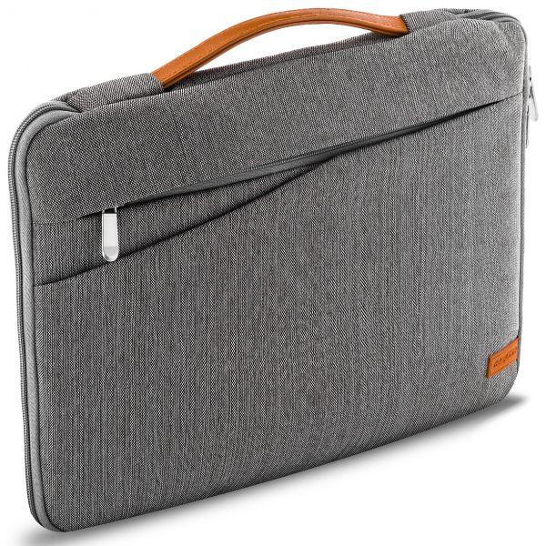 """deleyCON Notebooktasche für Notebook / Laptop bis 17,3"""" (43,94cm) - Grau/Braun"""