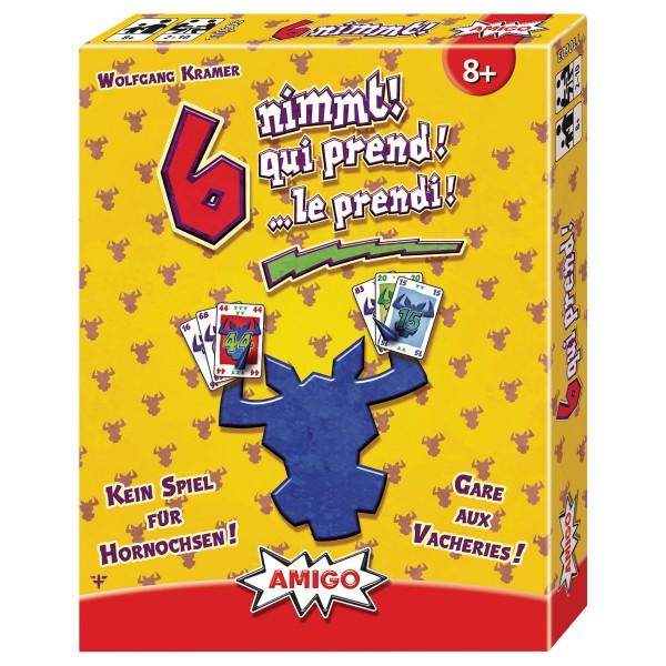 Image of AMIGO 6 nimmt!, d/f/i ab 8 Jahren, 2-10 Spieler, das Spiel für Hornochsen