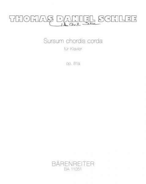 Image of Sursum chordis corda für Klavier op. 81a, Spielpartitur