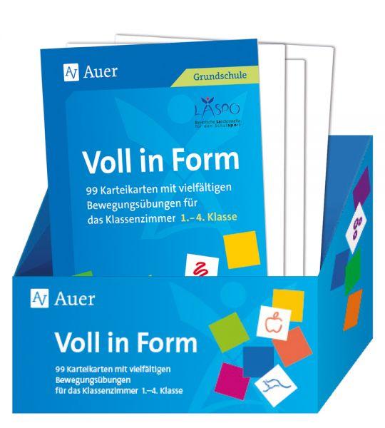 Image of Voll in Form: 99 Karteikarten mit vielfältigen Bewegungsübungen für das Klassenzimmer - 1.-4. Klasse