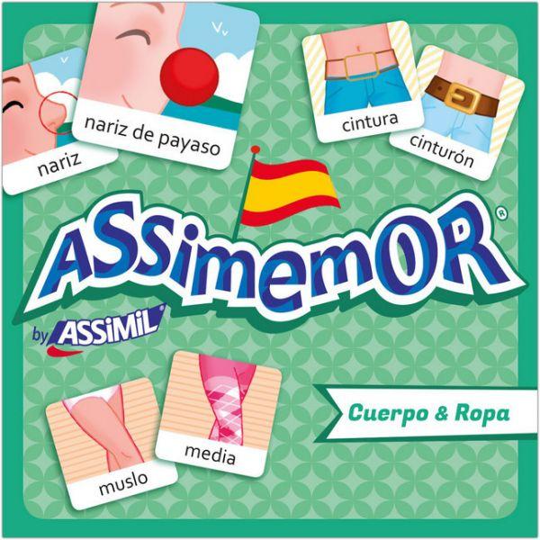 Image of Assimemor, Cuerpo & Ropa - Körper & Kleidung (Kinderspiel): Das kinderleichte Spanisch-Gedächtnisspi