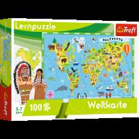 Trefl Puzzle Welt Karte Lernpuzzles