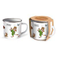 Trötsch Pettersson und Findus Emailletasse: Kaffeetasse Teetasse Geschenkidee Geschenk Tasse Emaille