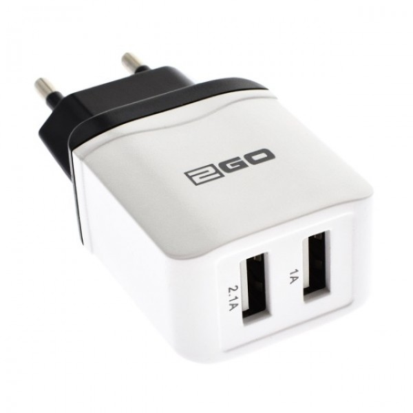 Image of 2GO Dual Wall Charger 5V 2400mA max.