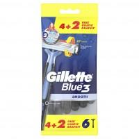 Gillette Einweg Rasierer Blue 3 Smooth 6er