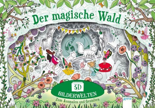 Image of 3D Bilderwelten. Der magische Wald: Zum Ausmalen und Gestalten