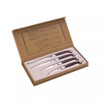 Laguiole Messerset 4-teilig aus Pakkaholz