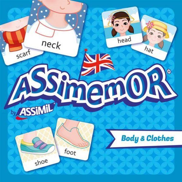 Image of Assimemor, Body & Clothes (Kinderspiel): Das kinderleichte Englisch-Gedächtnisspiel