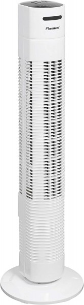 Bestron AFT770WRC Towerventilator 78cm mit Fernbedienung, weiss