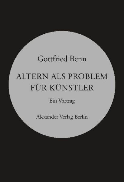 Image of Altern als Problem für Künstler: Ein Vortrag, gehalten am 7. März 1954 in der Villa Berg, Stuutgart