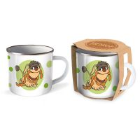 Trötsch Unser Sandmännchen Emaille Becher Tasse Moppi: Kaffeetasse Teetasse Geschenkidee Geschenk Ta
