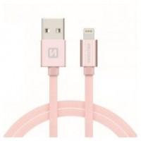 Swissten Datenkabel Textile USB / lightning MFi 1.2 M rose/gold